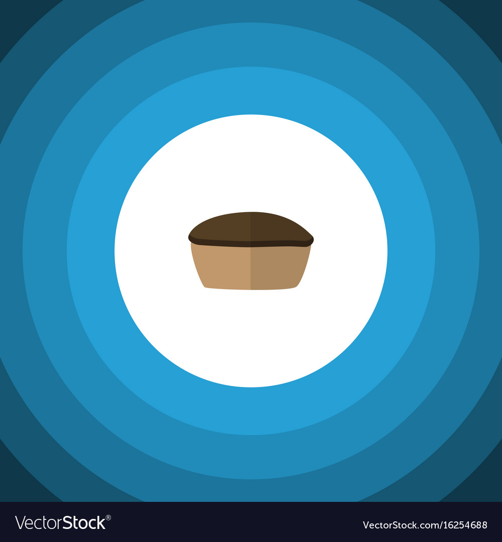 Isolated pie flat icon tart element can be