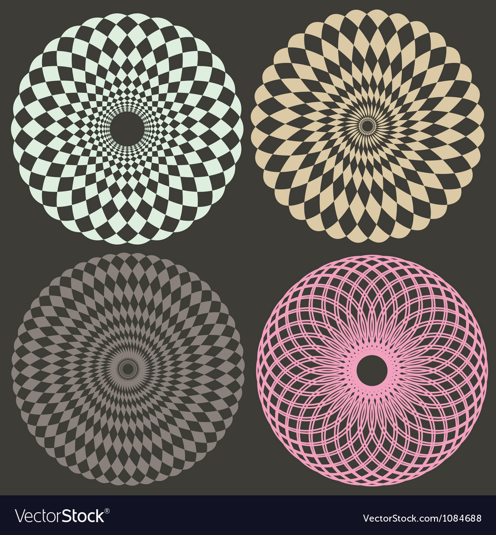 Optical collection vector image