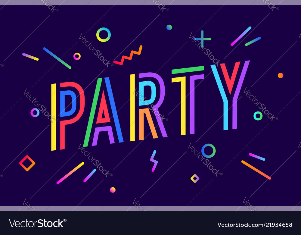 Party greeting card banner poster and flyer