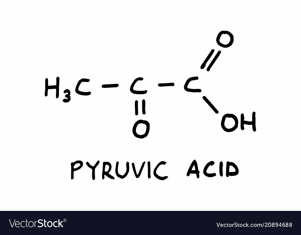 Pyruvic acid structural formula