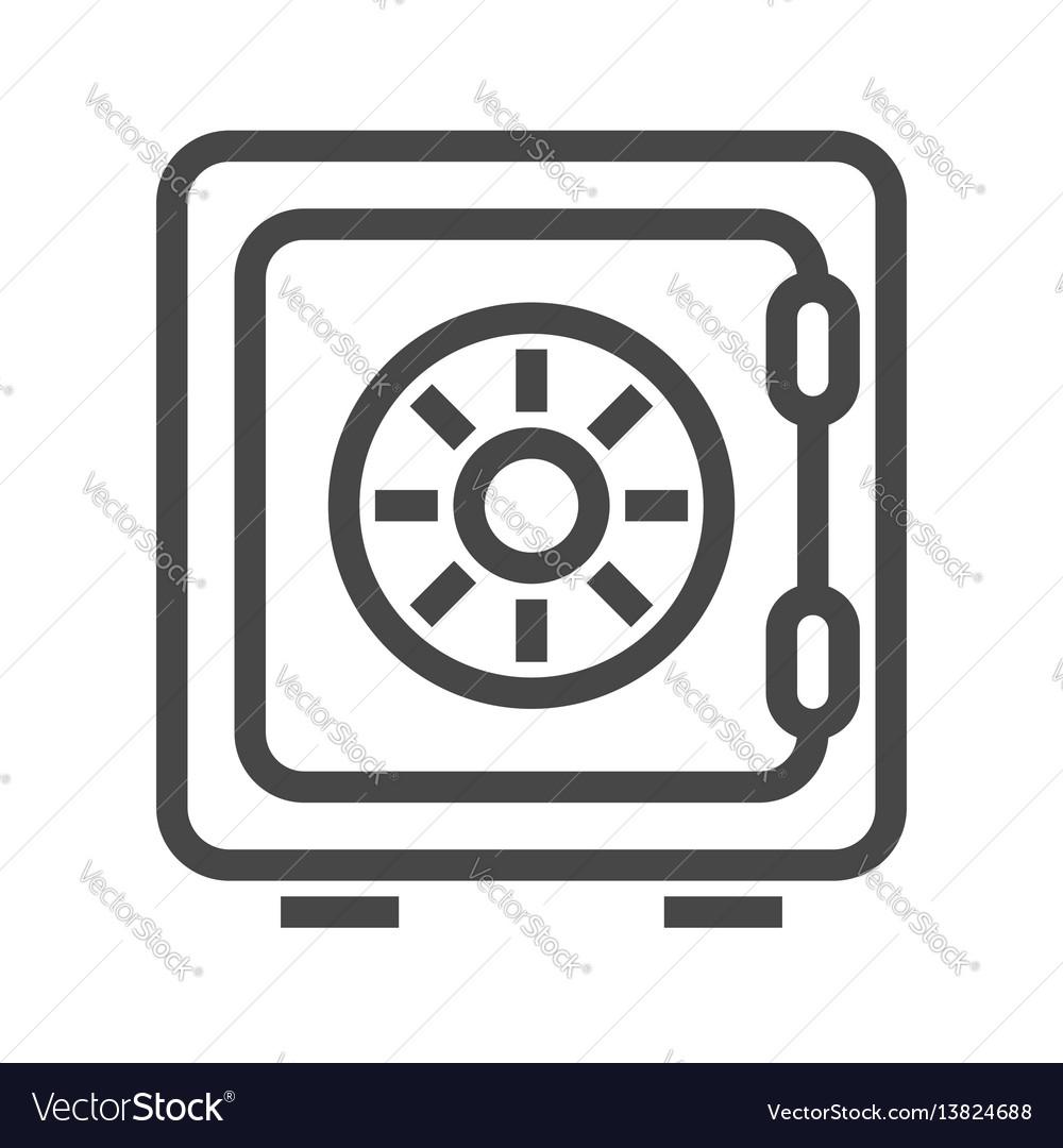 Safe thin line icon