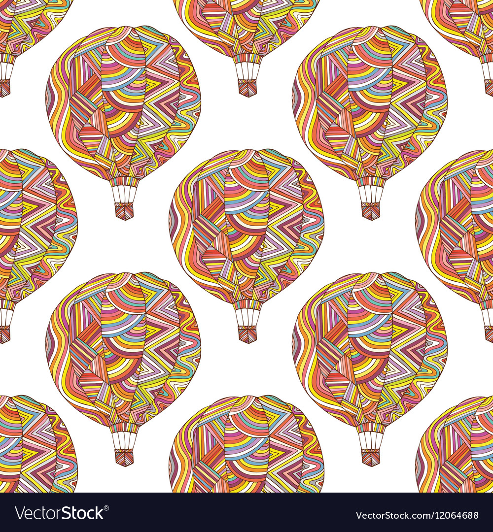 Seamless pattern with the image of the balloon