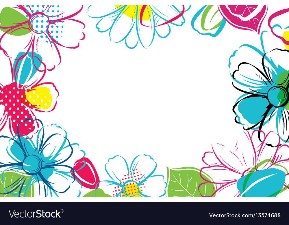 Spring season banner template background with
