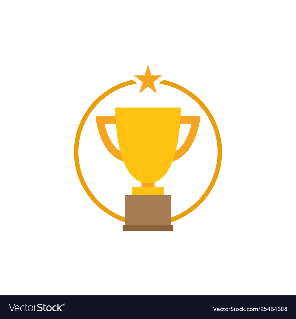 Trophy star icon graphic design template