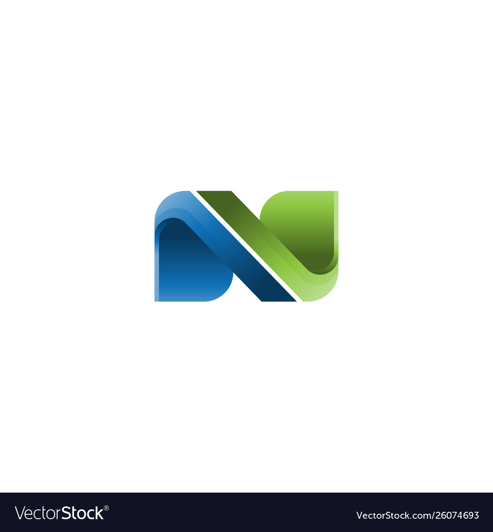 Abstract letter n business company logo
