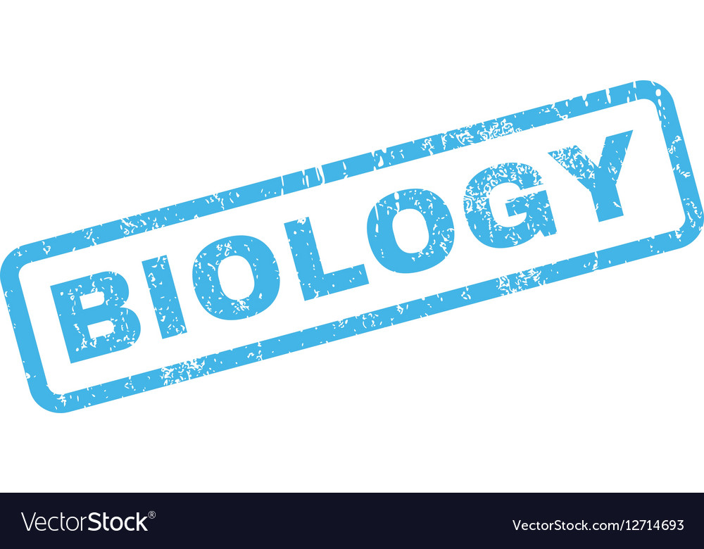 Biology Rubber Stamp vector image