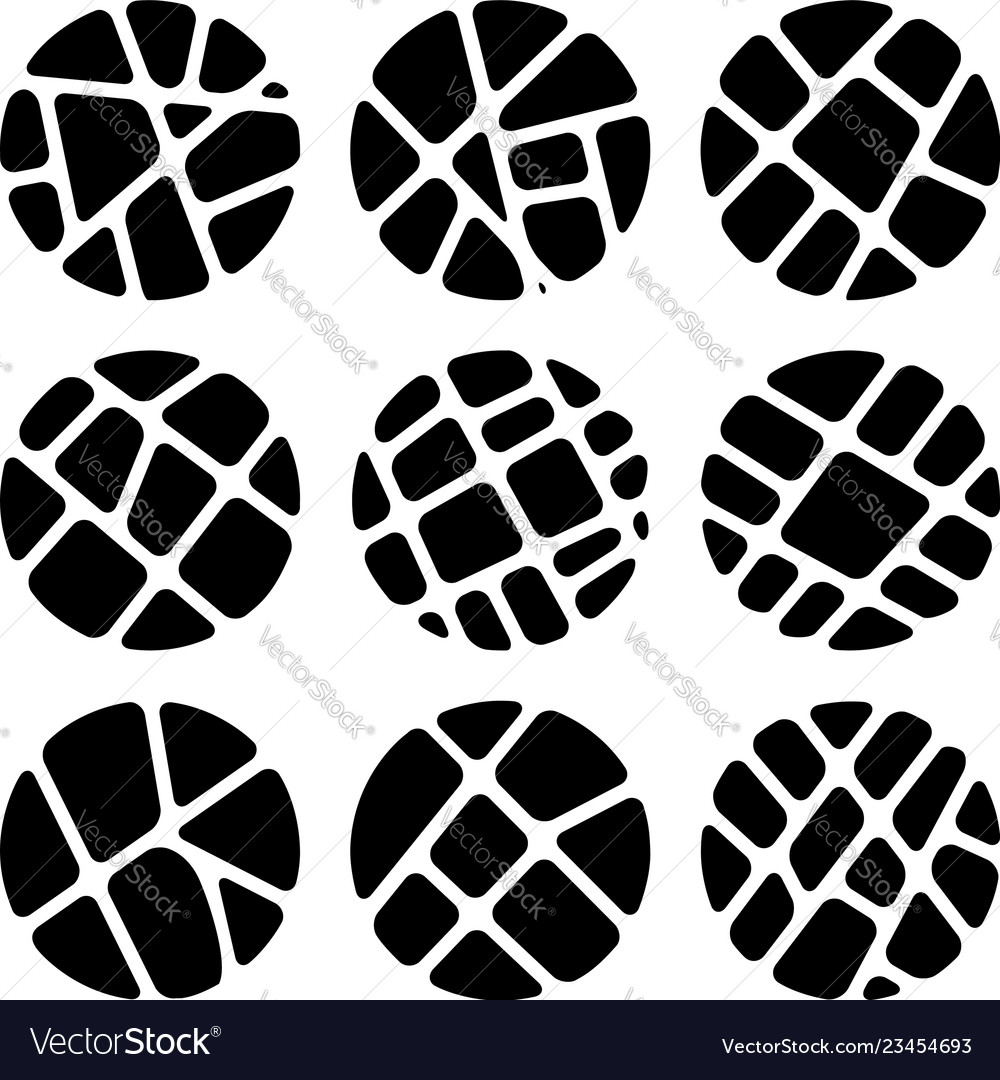 Black and white mosaic logo backgrounds
