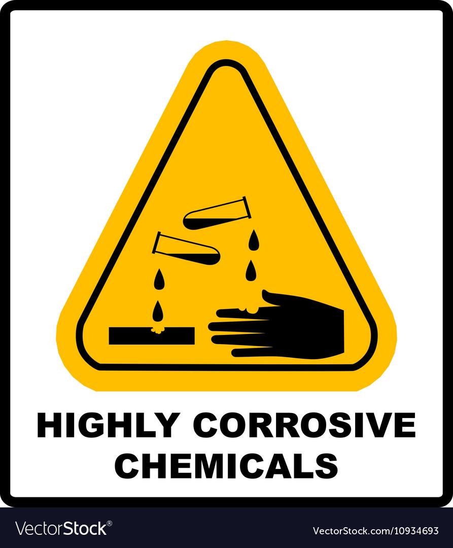 Corrosive sign Warning sign Danger sign