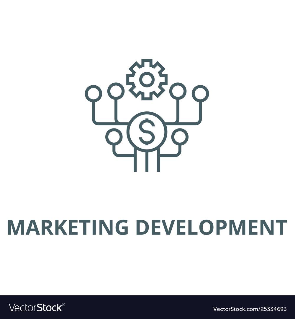 Marketing development line icon linear