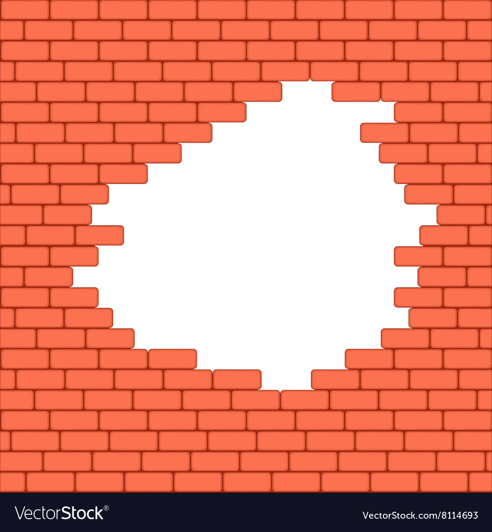 Red crashed brick wall texture background
