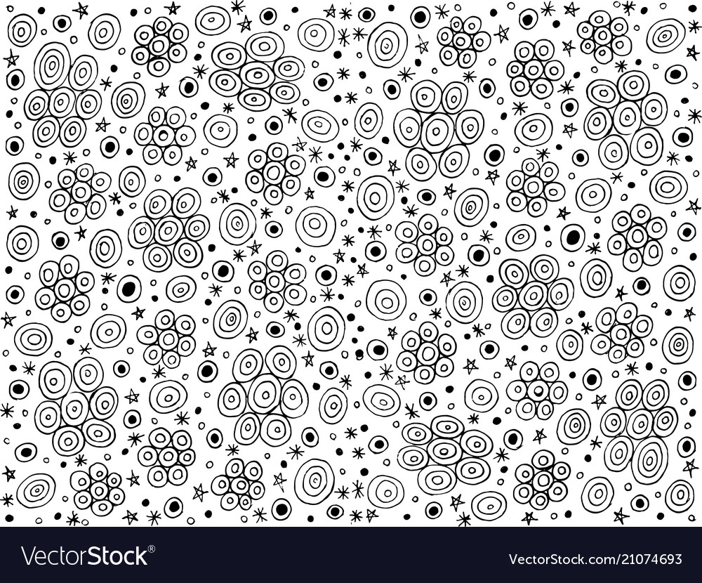 Starry night - doodle coloring page and background