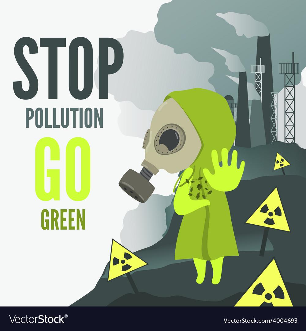 Stop environmental pollution vector image