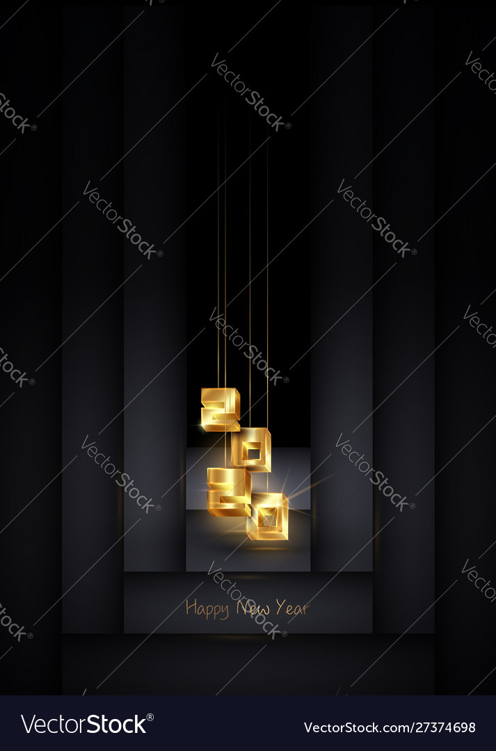 2020 christmas and happy new year banner