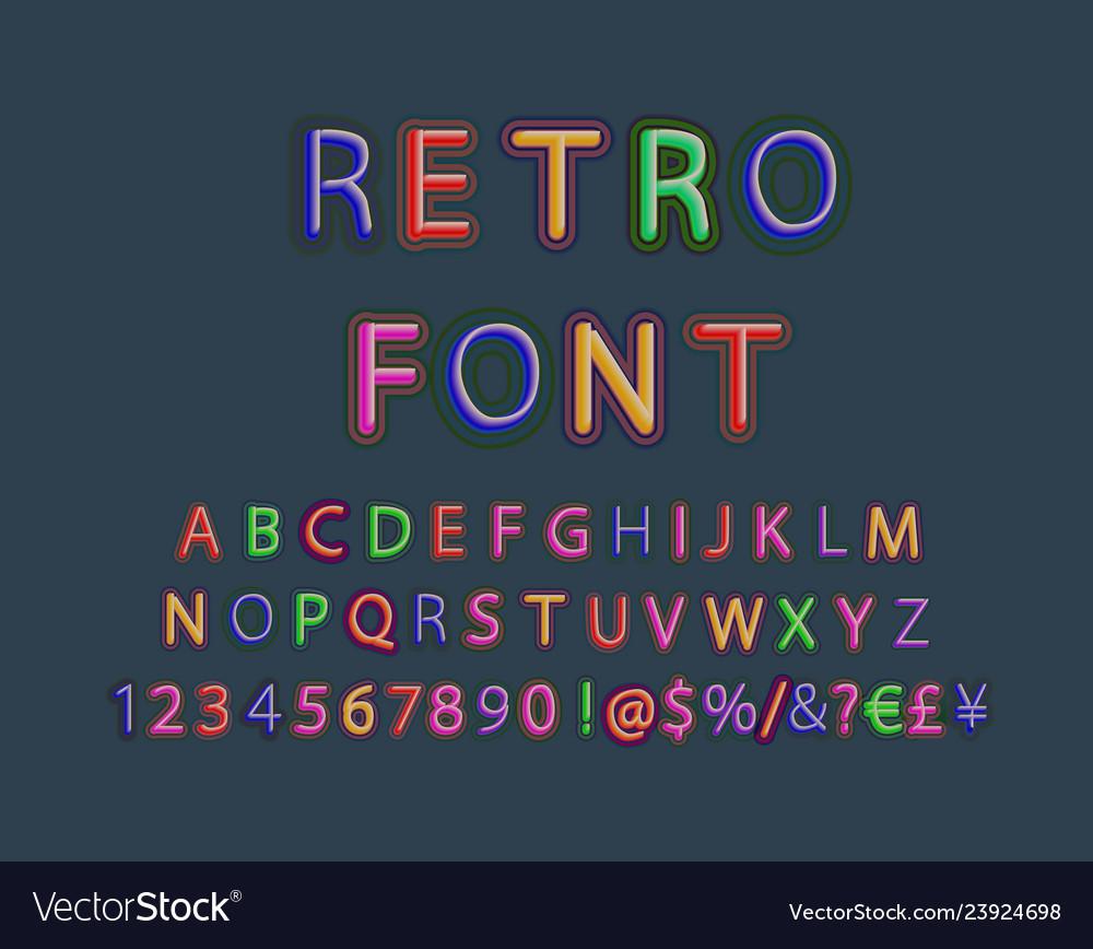 3d oblique retro font