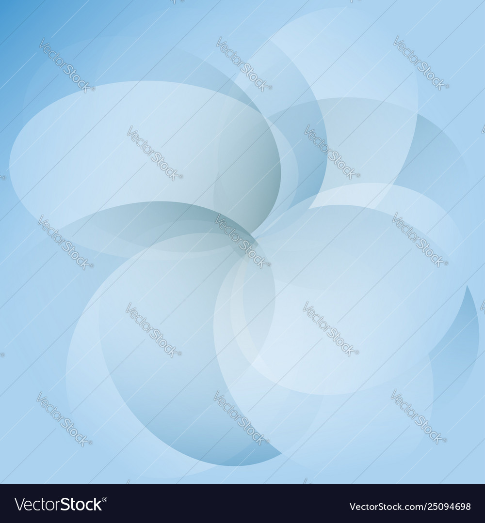 Abstract blue transparent circles on background