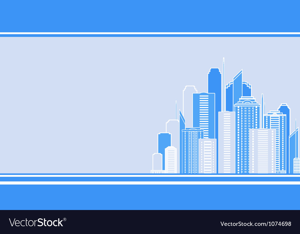 Business card with city landscape vector image
