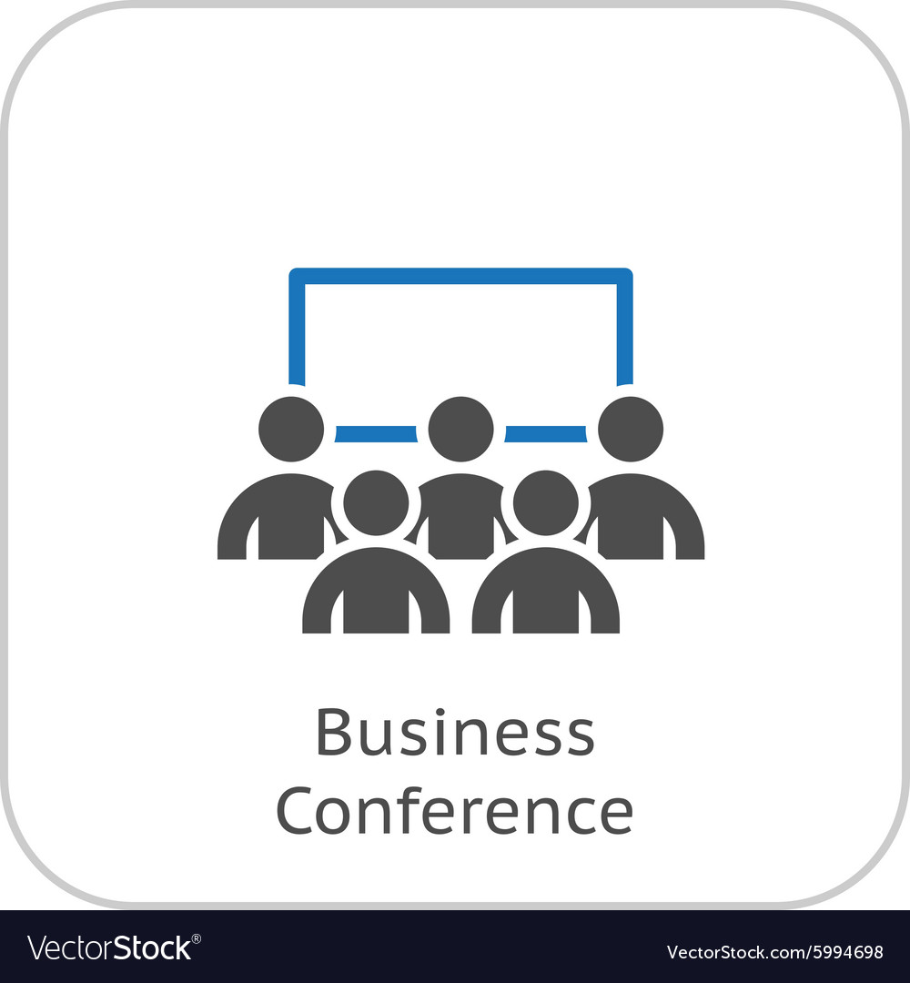 Business Conference Icon Online Learning Flat