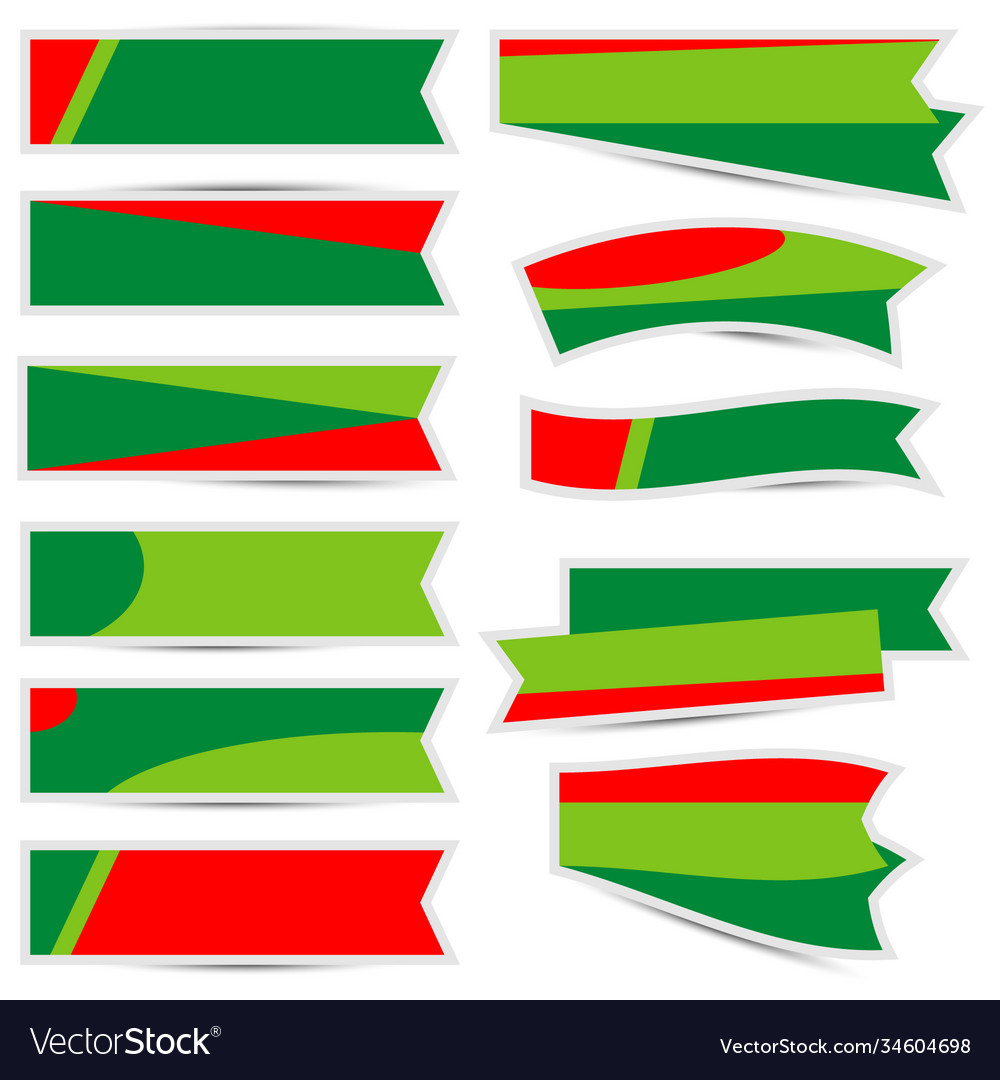 Christmas ribbon with shadow on white background vector