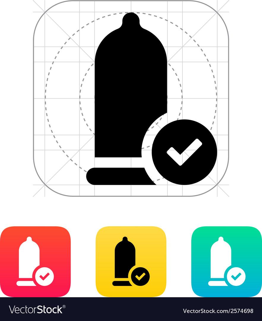Condom Check icon vector image
