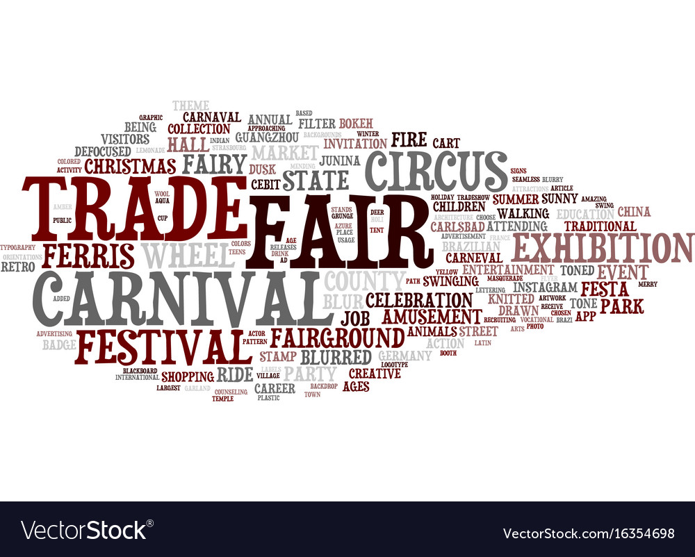 Fair word cloud concept vector image