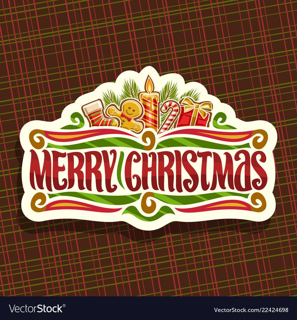 Logo for merry christmas