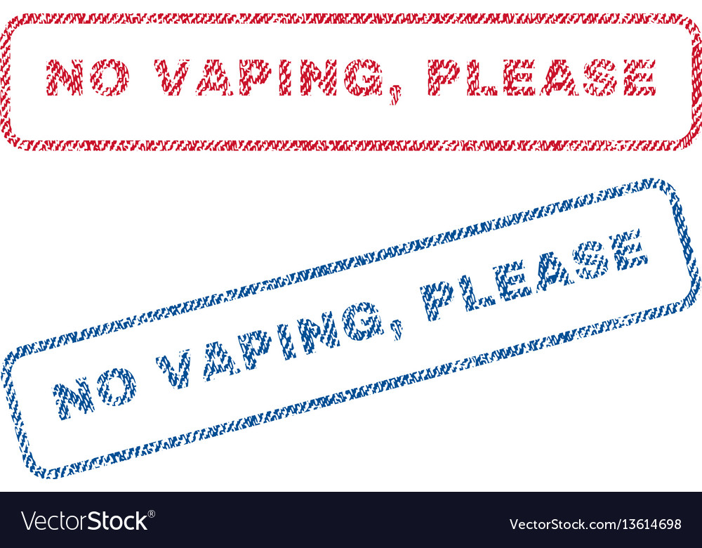 No vaping please textile stamps
