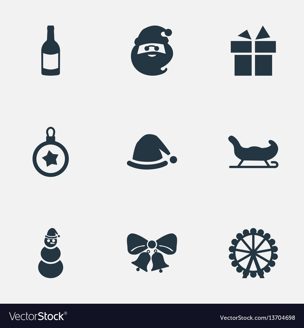 Set of simple christmas icons