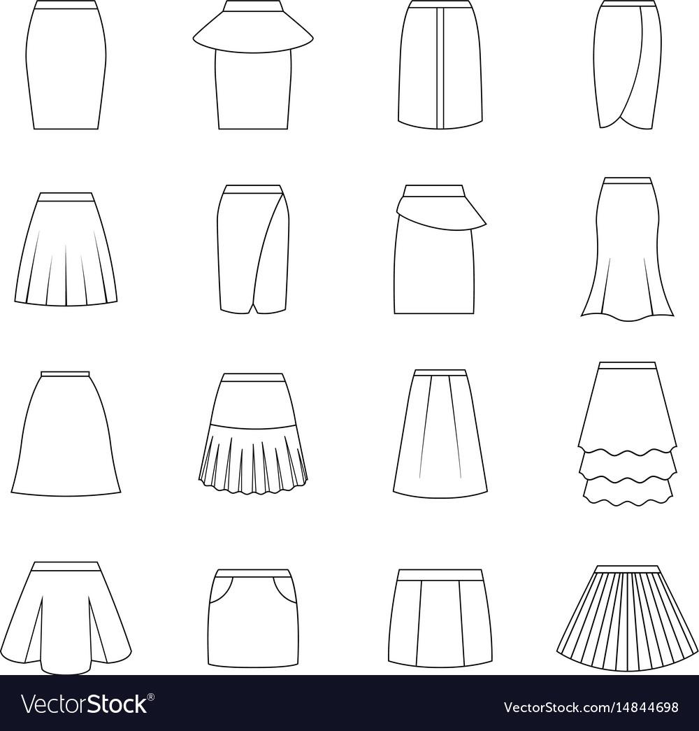Set of skirts
