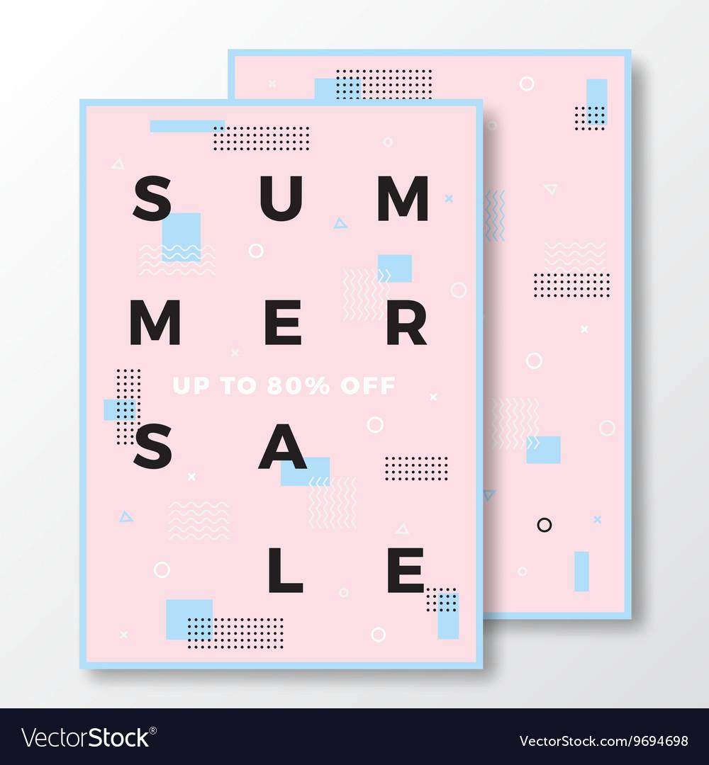 Summer Sale Poster Card or Flyer Template Modern