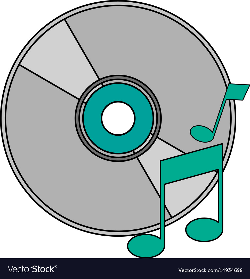 White background with music compact disc