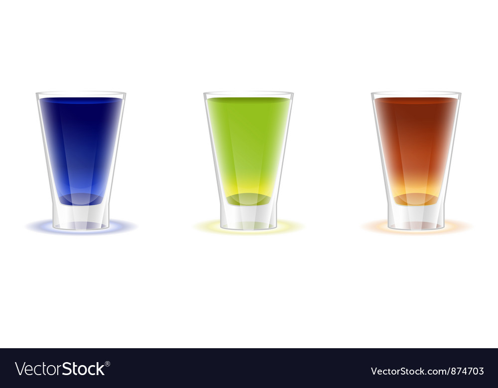 Alcohol Shots Drinks Vector Image