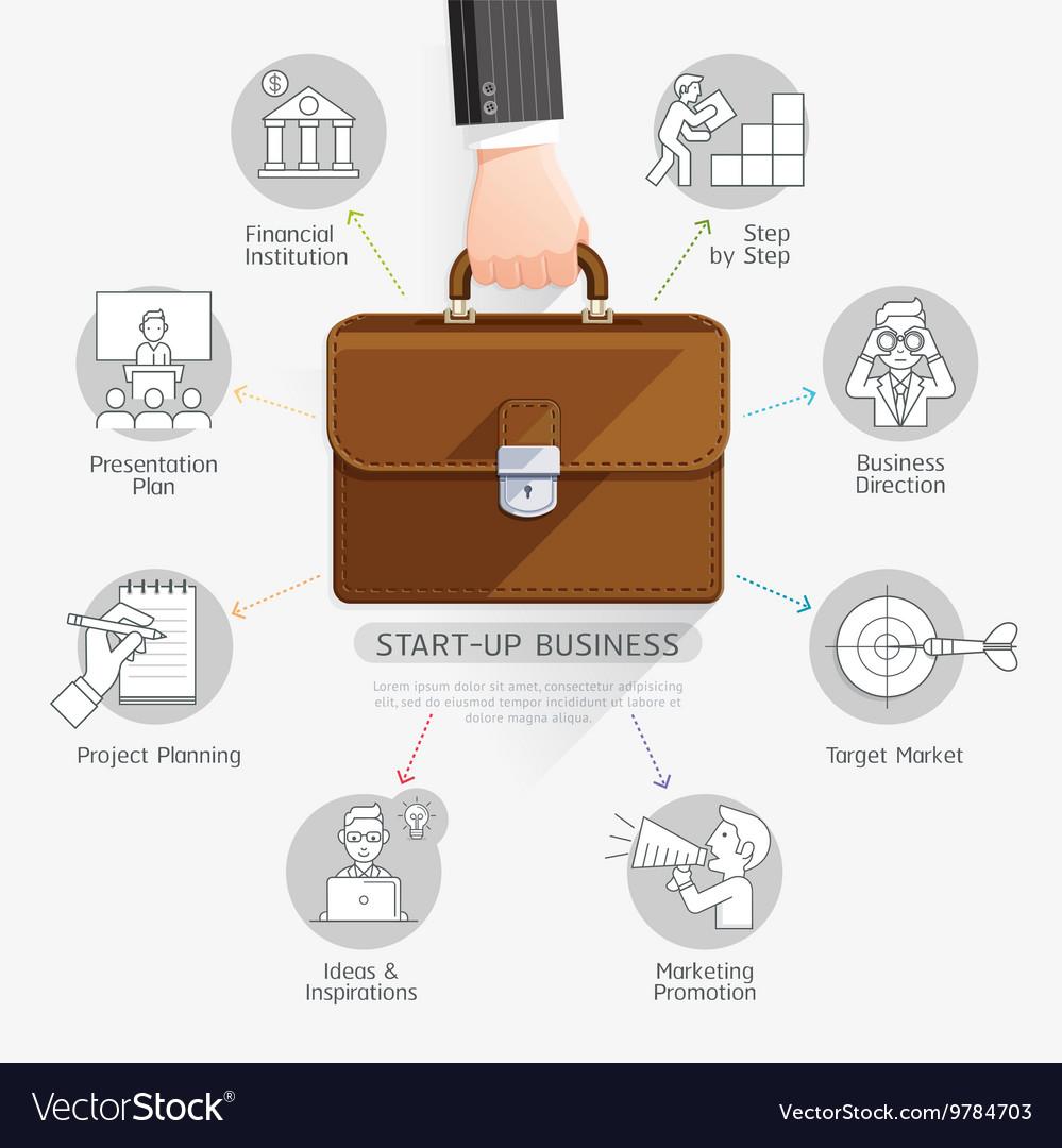 Businessman hand holding briefcase bag