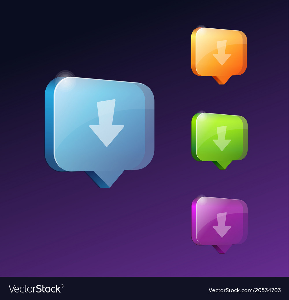 Download web buttons for website or app