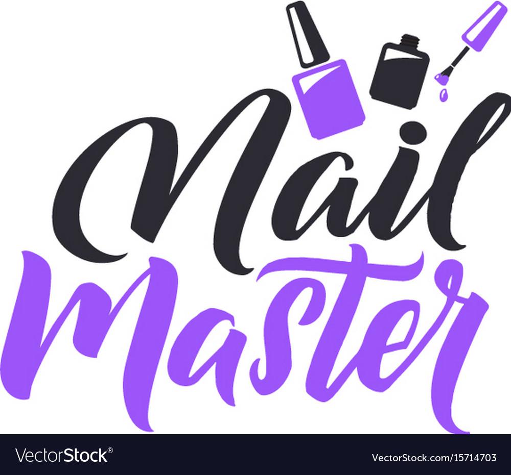 Manicure studio nail master logo beauty