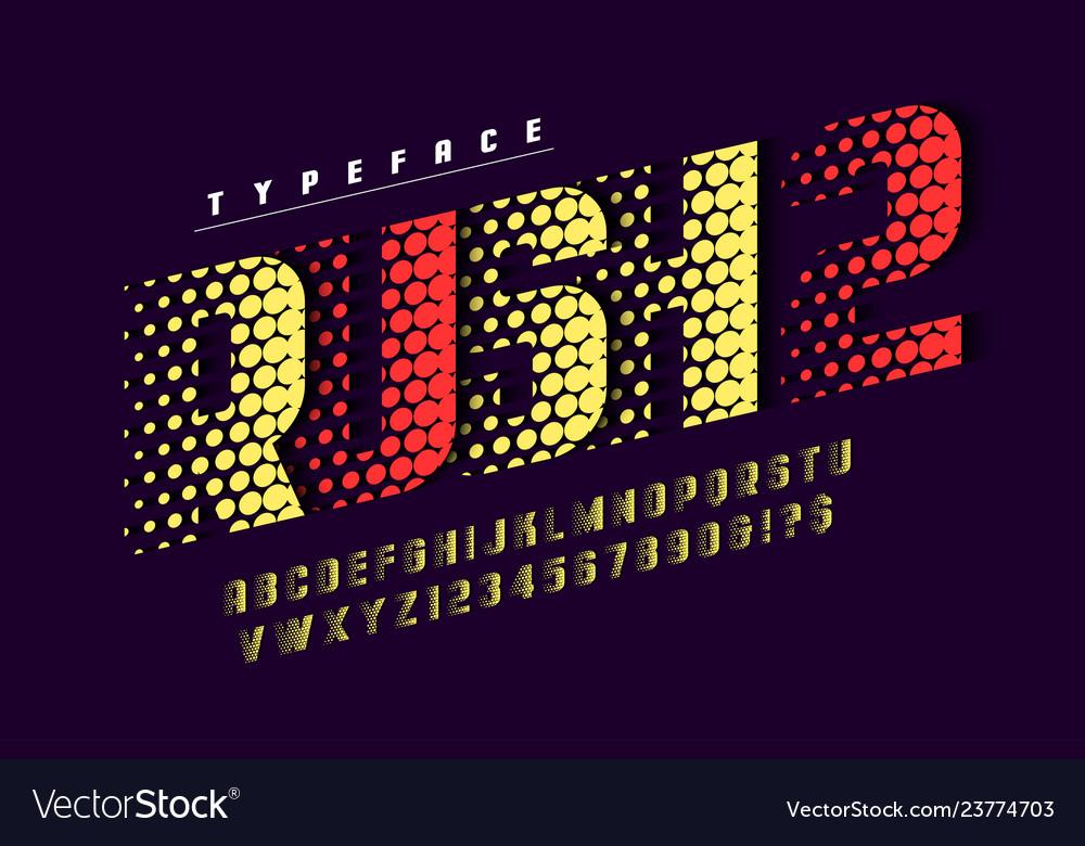 Racing display font design alphabet typeface