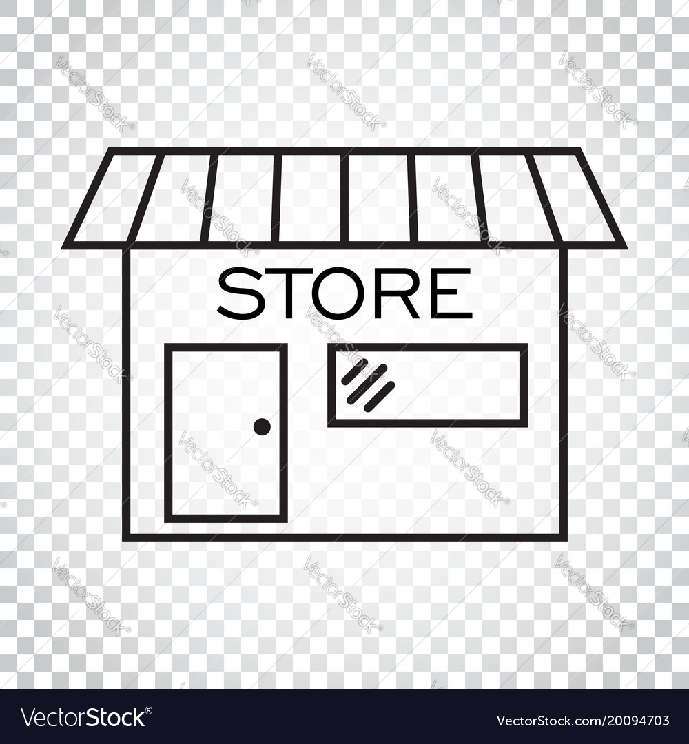 Store icon in flat style shop symbol simple