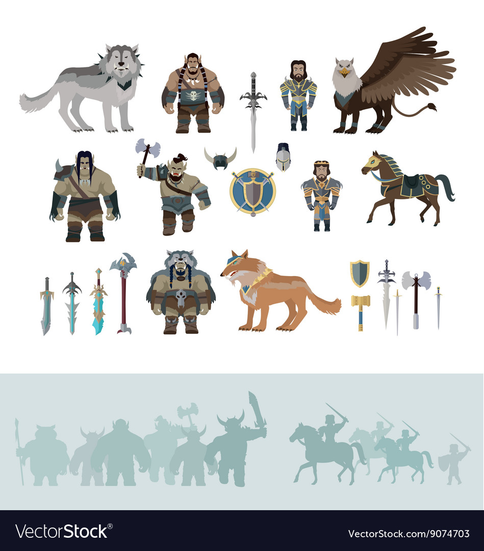 Stylized fantasy characters