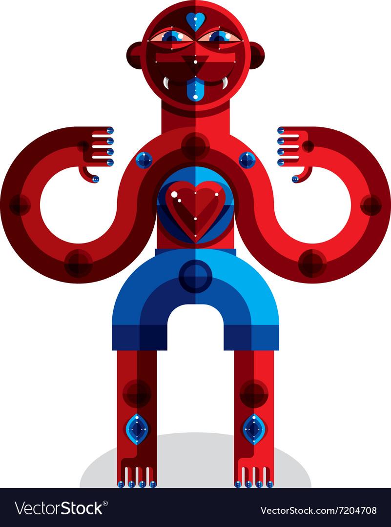 Avant-garde of mythic person pagan symbol