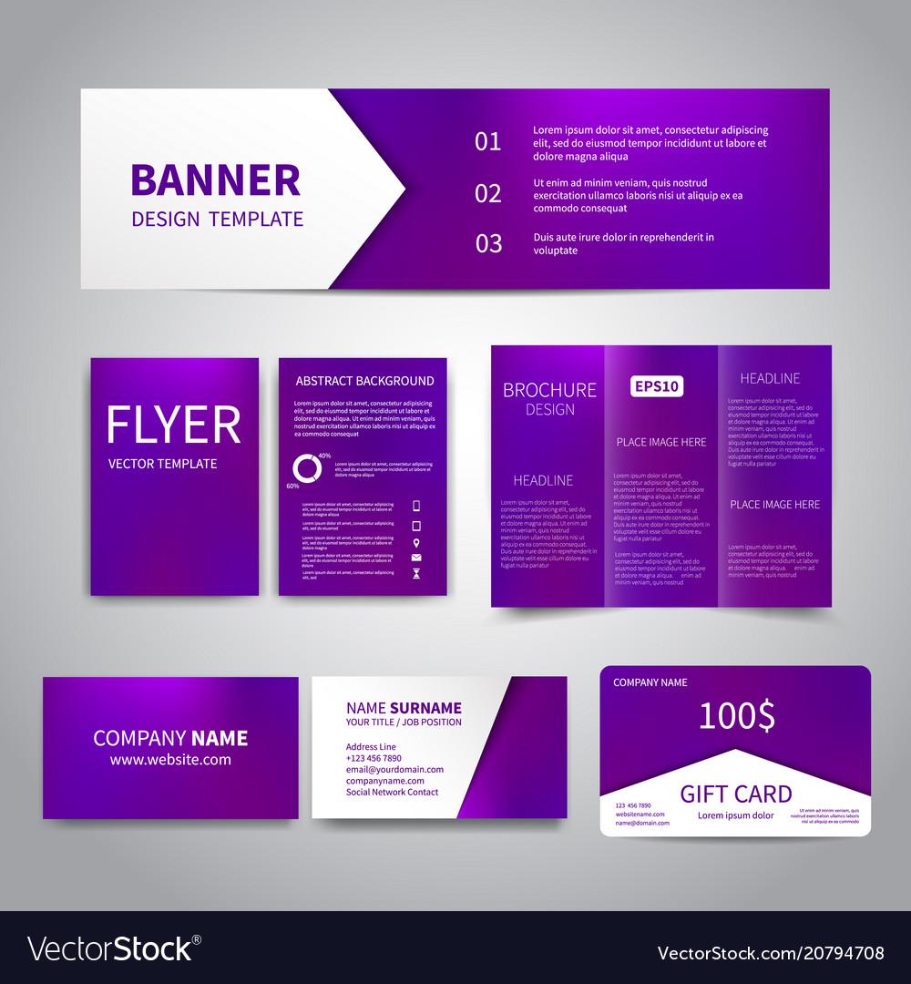 Banner flyers brochure business cards