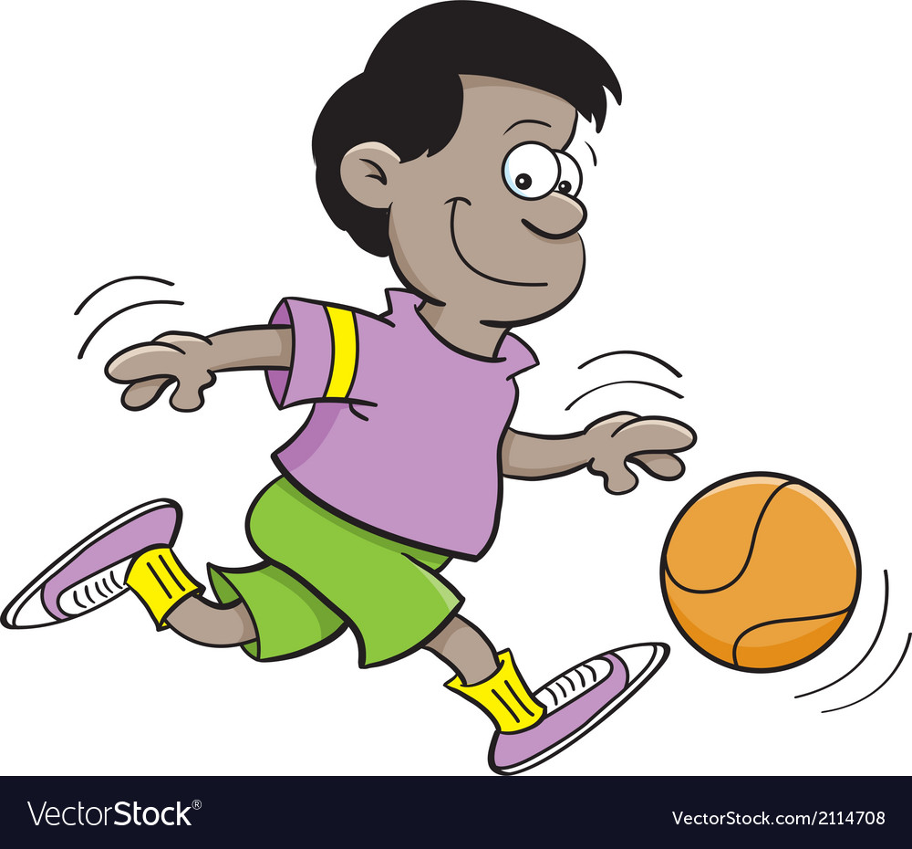 Cartoon Basketball Boy