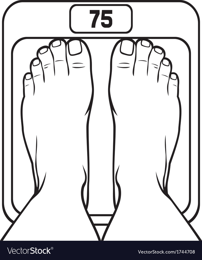 Feet on the scale