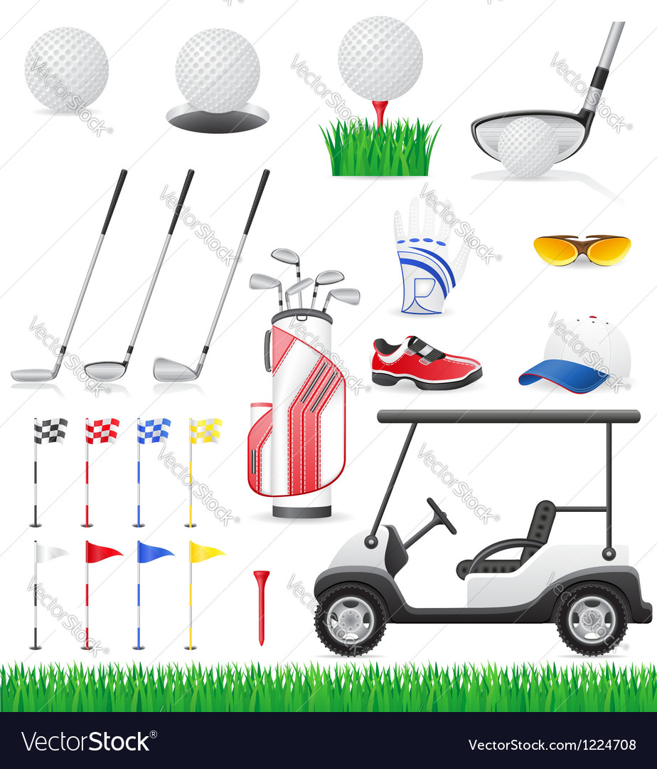 Golf 15 vector image