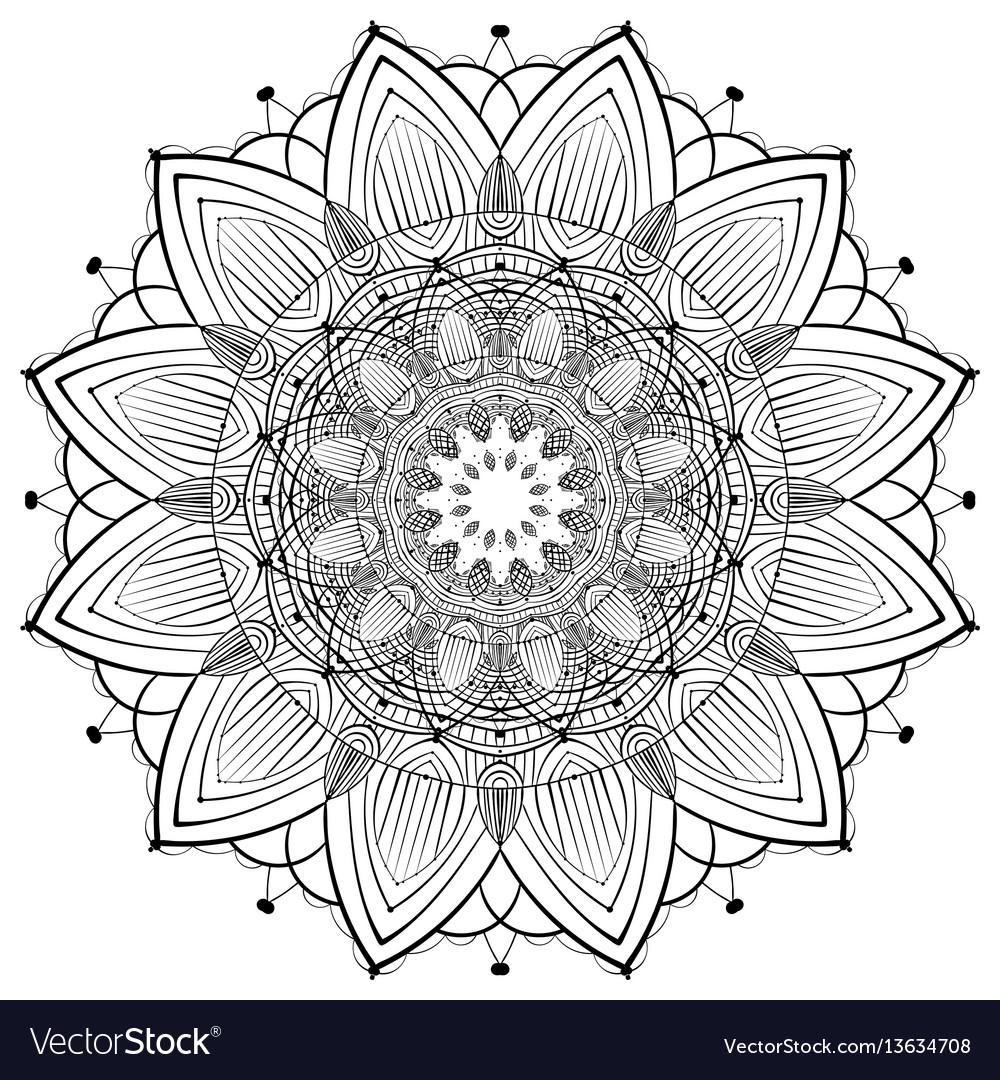 Lace ornament mandala