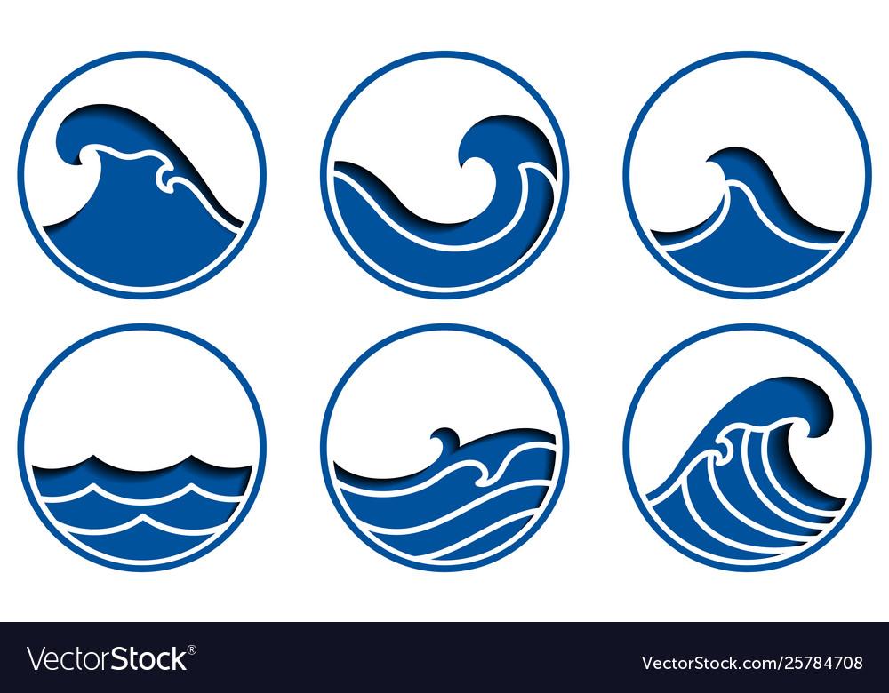 Ocean Wave Icon Royalty Free Vector Image Vectorstock Wave icon free vector we have about (32,709 files) free vector in ai, eps, cdr, svg vector illustration graphic art design format. vectorstock