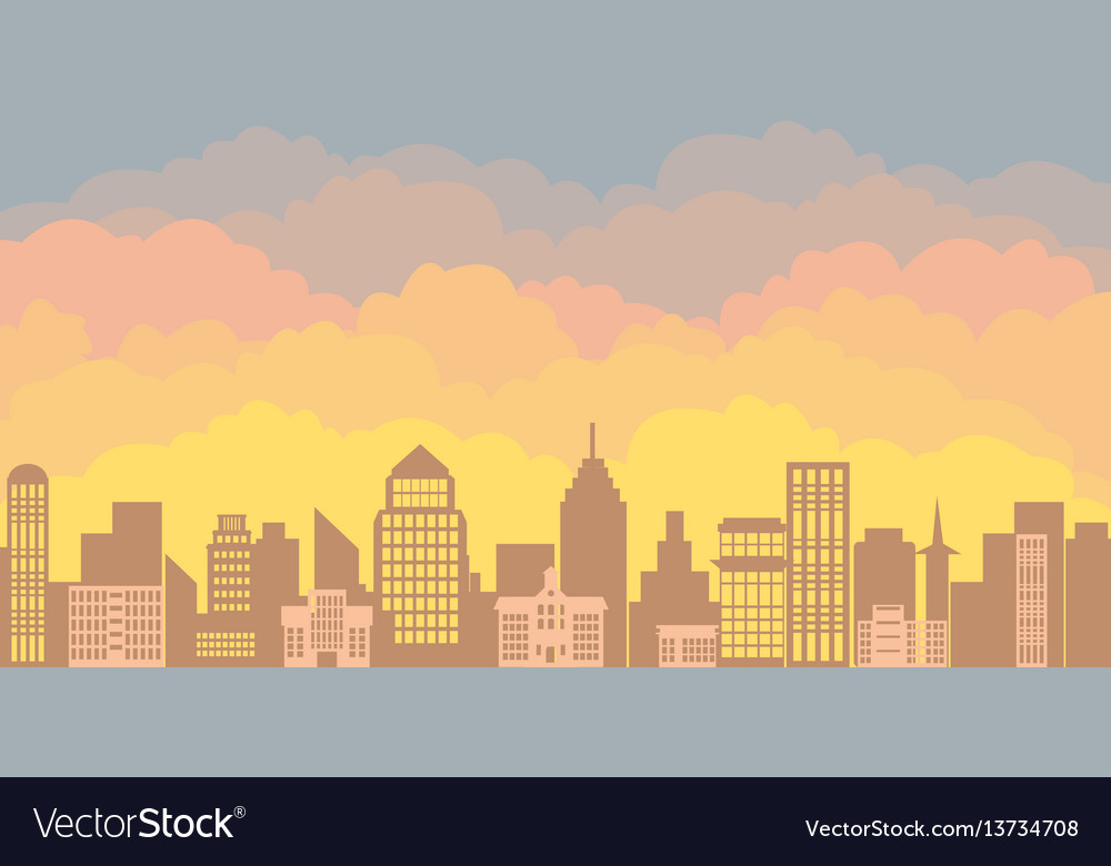Panorama landscape of the morning silhouette of
