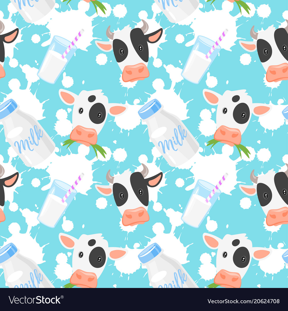 Pattern with cows
