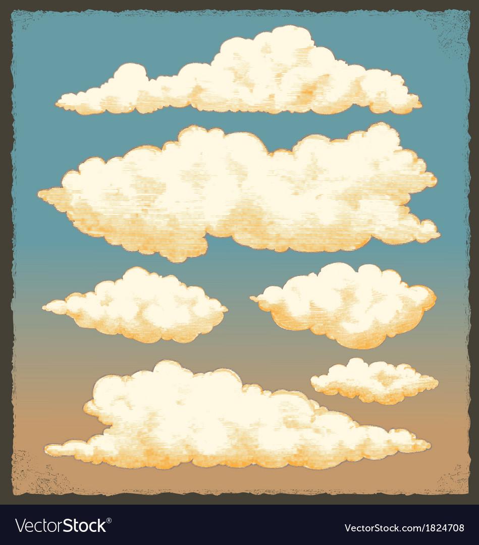 Vintage Cloud Background Design