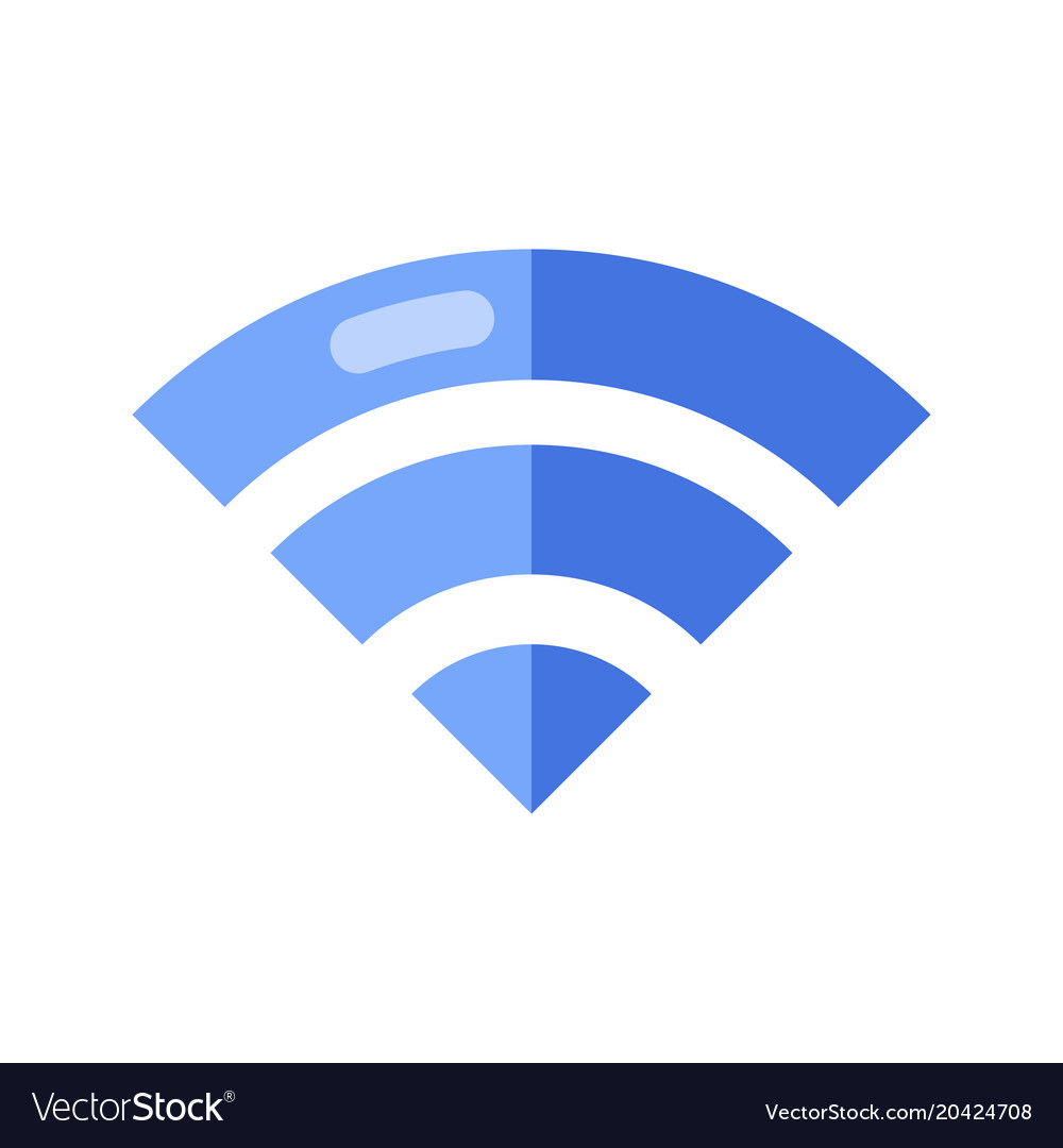 Wireless Network Symbol Wifi Sign Royalty Free Vector Image