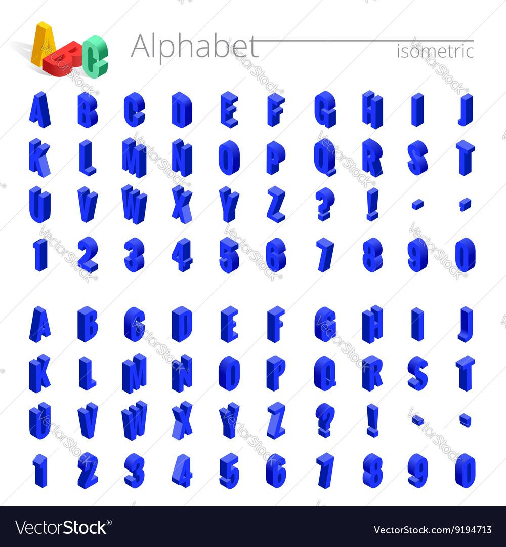 3d isometric alphabet font Isometric