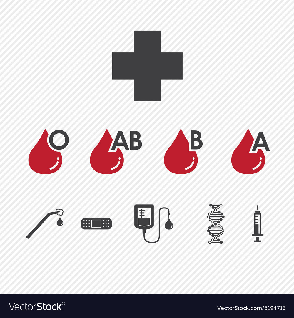 Blood donation Group icons set